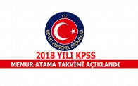 2018 yılı KPSS Merkezi Yerleştirme ve Sınav Takvimi