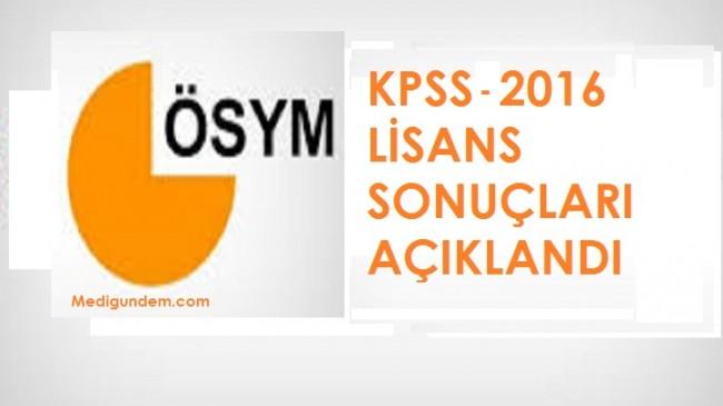 2016 KPSS lisans sonuçları açıklandı
