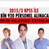 Sağlık Personeli Alımı, 2015/3 KPSS Tercih Kılavuzu yayınlandı.