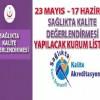 23 Mayıs-17 Haziran 2016 tarihlerde Değerlendirme Yapılacak Hastaneler